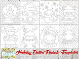 More Holiday Pin Hole Art Templates - Fun Learning Printables