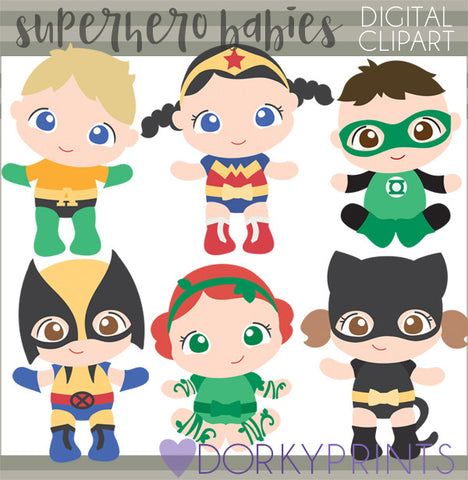 Baby Super Hero Clipart