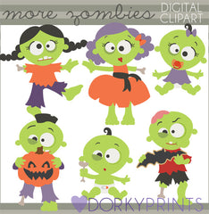 More Zombie Halloween Clipart