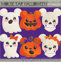 Mouse Ear Halloween Clipart