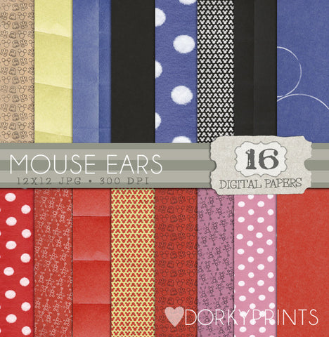 Mouse Digital Paper Pack