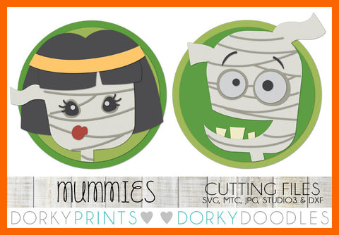 Mummy Halloween SVG Cuttable Files