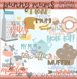 Punny Mum's Day Word Art Holiday Clipart