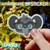 Nerd Puppy Large Waterproof Sticker