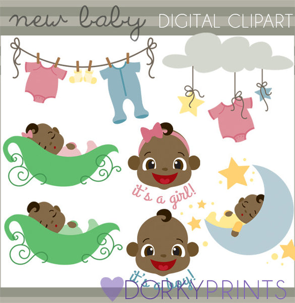Sweet Pea Babies Clipart