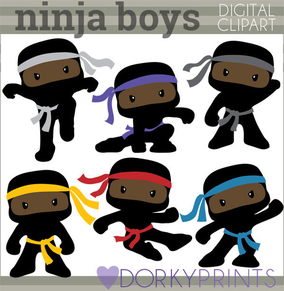 Boy Ninjas Hero Clipart