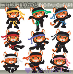 Tiger Ninjas Hero Clipart