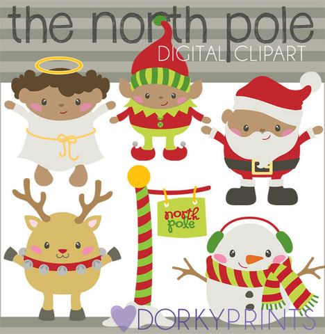 Santa's North Pole Christmas Clipart