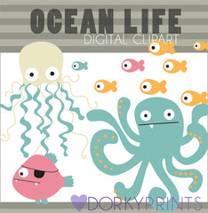 Ocean Animals Summer Clipart