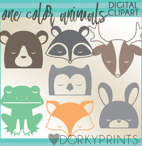 Simple Woodland Animals Clipart