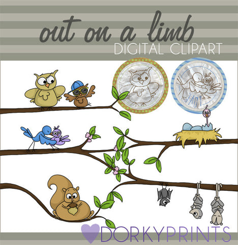 Out on a Limb Spring Clipart
