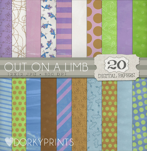 Out on a Limb Digital Paper Pack
