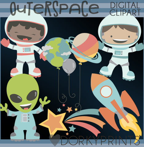Outer Space Kid Clipart
