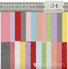 Hearts Digital Paper Pack