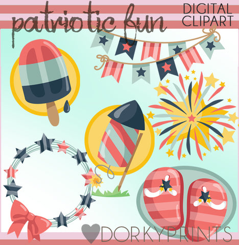 Patriotic Fun Summer Clipart