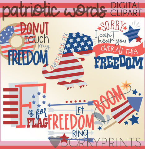 4th of July Fun Summer Clipart