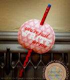 """Just Write for Me"" Valentine Pencil Tag Holiday Printables"