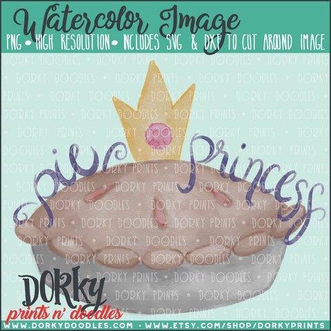 Pie Princess Watercolor PNG