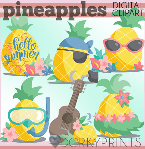 Pineapple Summer Clipart