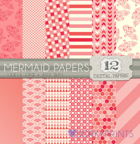 Mermaid Digital Paper Pack