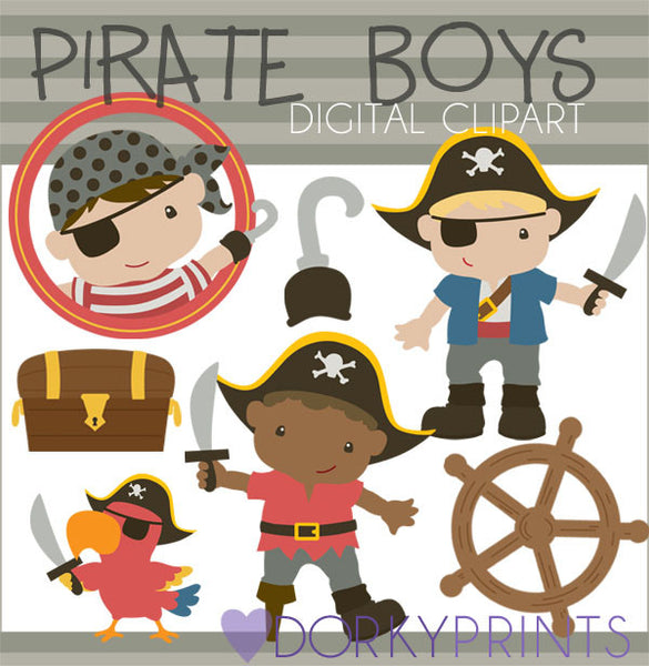 Pirate Boys Kid Clipart