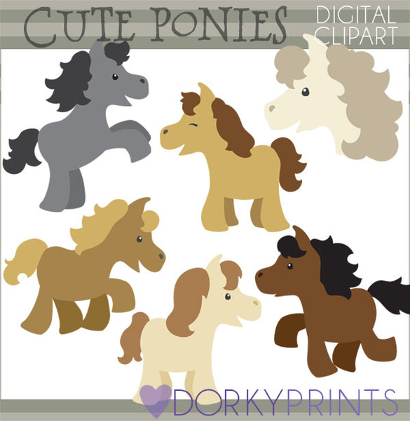 Cute Horse Animals Clipart