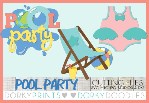 Pool Party Cuttable Files