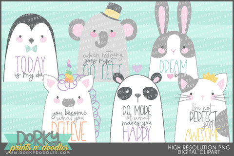 Positive Animals Clipart