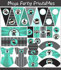 Ninja Birthday Party Printables Pack for Boys