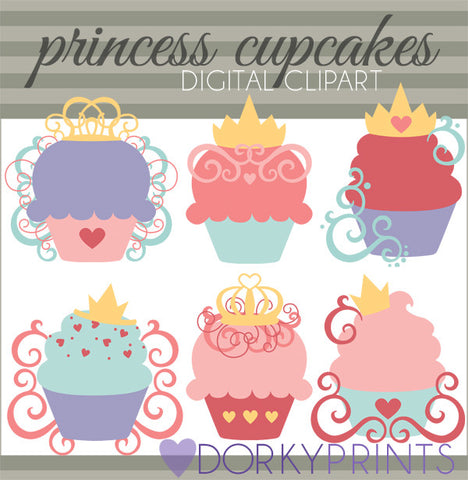 Princess Cupcakes Food Clipart