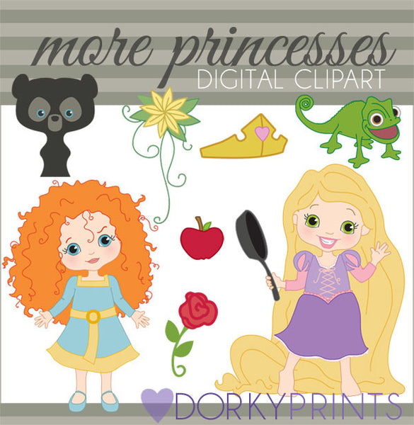 Princess and Accessories Character Clipart