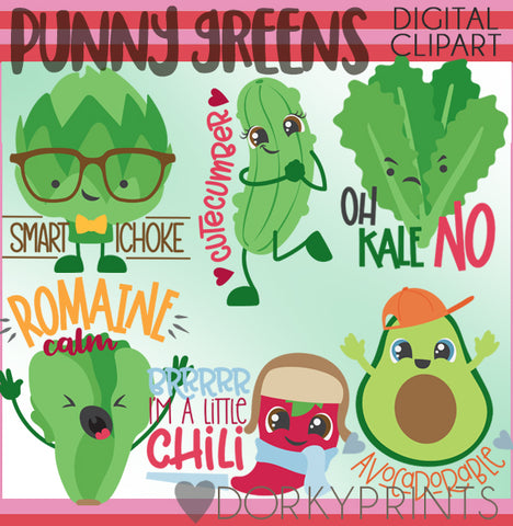 Punny Greens Food Clipart