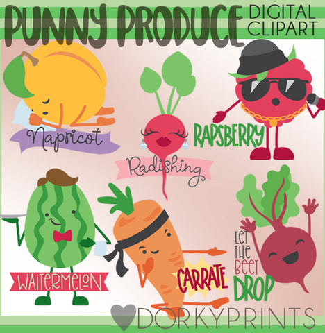 Punny Produce Food Clipart