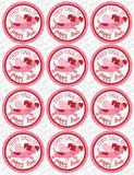 """Puppy Love"" Valentine Circle Tags Holiday Printables"
