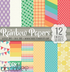 Rainbow Digital Paper Pack