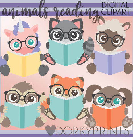 More Reading Animals Clipart
