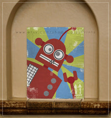 "Red Robot 8x10"" Printable"