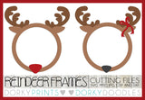 Christmas Reindeer Frame Cuttable Files