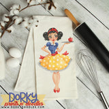 Retro Snow White Watercolor PNG