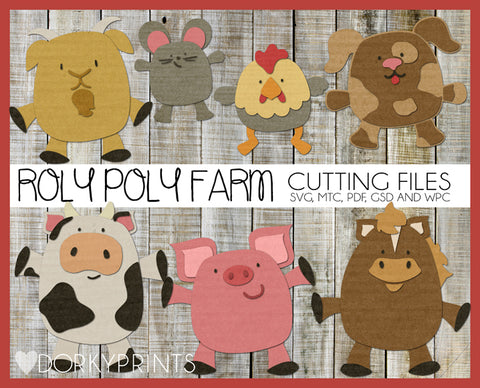 Farm Animals Cuttable Files
