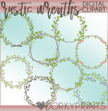 Country Wreath Clipart