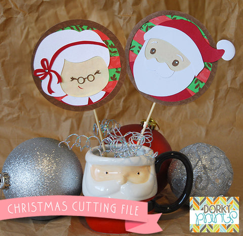 Santa and Mrs Claus Cuttable Files