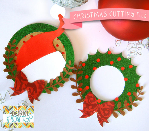 Santa Hat and Wreath Cuttable Files