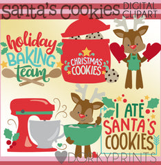 Holiday Baking Christmas Clipart