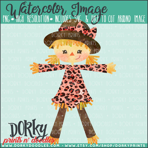 Scarecrow Girl Watercolor PNG