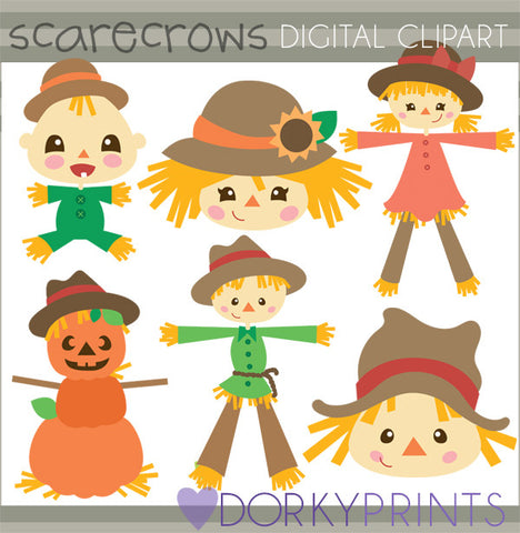 Scarecrow Thanksgiving Clipart