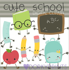 Kawaii School Clipart