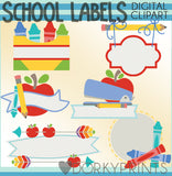 Labels for School Clipart