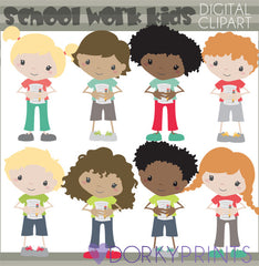 School Work Kids School Clipart