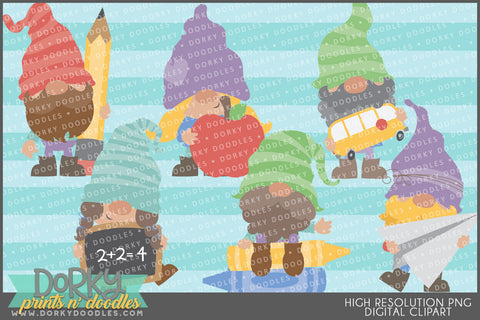 Gnome Back to School Clipart